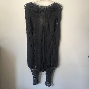 Liviana Conti NWT Distressed Sleeveless Sweater